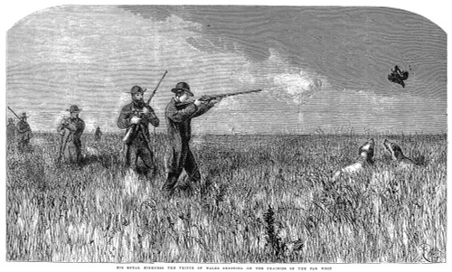 Edward Vii (1841-1910). /Nking Of England, 1901-1910. The Prince Of Wales Hunting On The Prairie During His Visit To The United States In 1860. Contemporary English Wood Engraving. Poster Print by Granger Collection - Item # VARGRC0001842