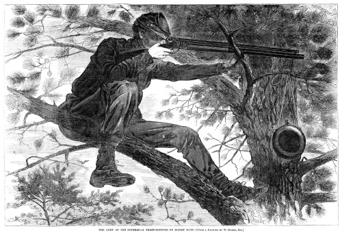 Homer: Civil War, 1862. /Na Union Sharpshooter On Picket Duty. Wood Engraving, 1862, After A Painting By Winslow Homer. Poster Print by Granger Collection - Item # VARGRC0000912