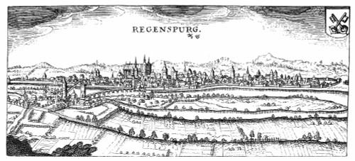 Germany: Regensburg, 1632. /Nview Of Regensburg, Germany. Line Engraving, 1632. Poster Print by Granger Collection - Item # VARGRC0077444