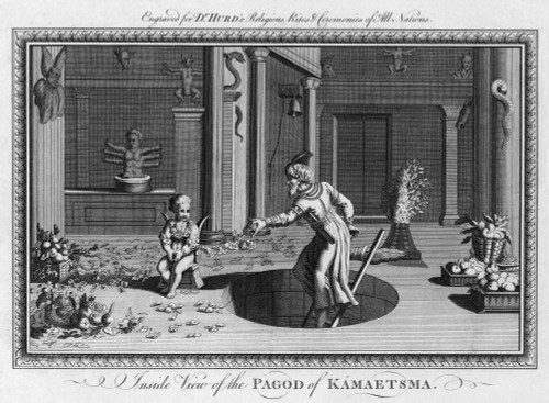 Religion: India. /N'Inside View Of The Pagod Of Kamaetsma,' In India. Copper Engraving, From Dr. Richard Hurd'S 'Religious Rites And Ceremonies Of All Nations,' Late 18Th Century. Poster Print by Granger Collection - Item # VARGRC0266912