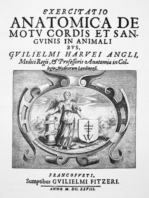 Harvey: Circulation, 1628. /Ntitle-Page Of William Harvey'S Publication Of His Discovery Of The Circulation Of The Blood, 'De Motu Cordis Et Sanguinis,' Frankfurt, Germany, 1628. Poster Print by Granger Collection - Item # VARGRC0005918