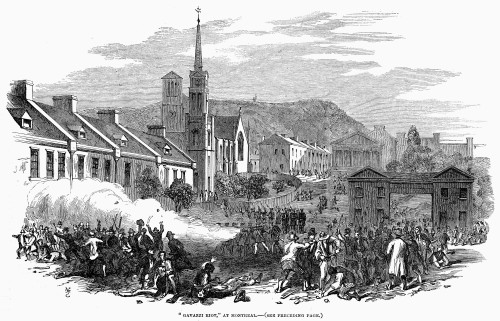 Canada: Gavazzi Riot, 1853. /N'Gavazzi Riot' At Montreal, Caused By Incendiary Words Spoken By Italian Patriot Alessandro Gavazzi. Wood Engraving, 1853. Poster Print by Granger Collection - Item # VARGRC0101586