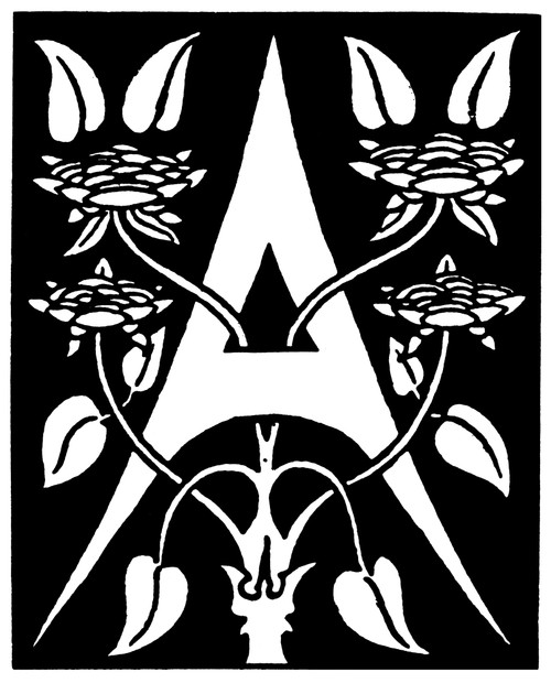 Decorative Initial, 1893. /Ndesigned By Aubrey Beardsley, 1893. Poster Print by Granger Collection - Item # VARGRC0408919
