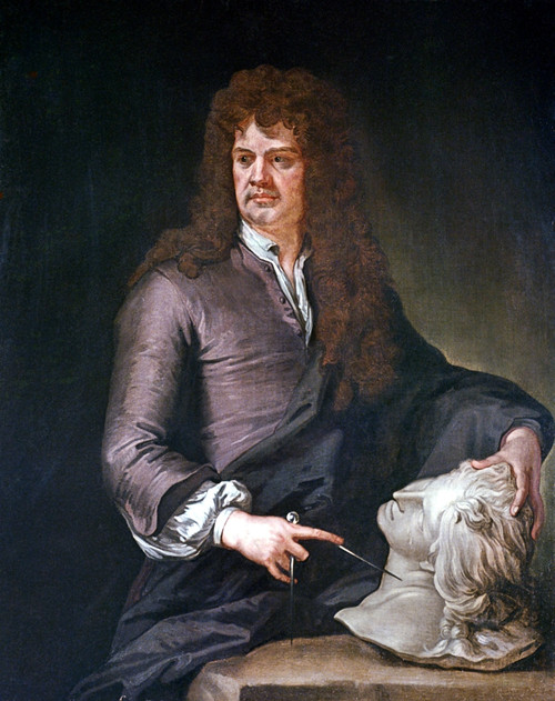 Grinling Gibbons (1648-1720). /Nenglish Woodcarver And Sculptor. Oil On Canvas After A Painting, C1690, By Sir Godfrey Kneller. Poster Print by Granger Collection - Item # VARGRC0049614