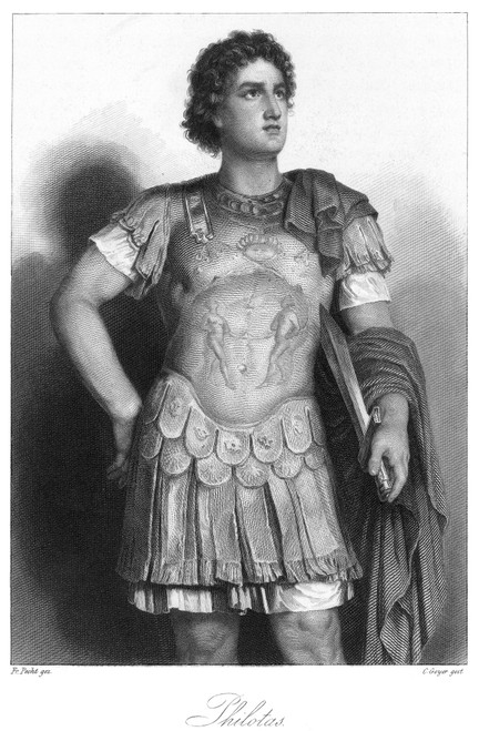 Philotas (D. 330 B.C.). /Nmacedonian General Tried And Executed By Alexander The Great For Conspiracy. French Steel Engraving, 19Th Century. Poster Print by Granger Collection - Item # VARGRC0066030