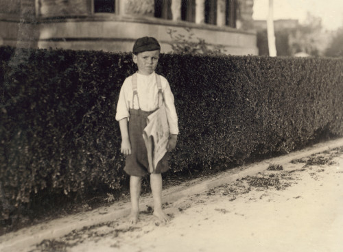 Hine: Newsboy, 1913. /Nsix-Year-Old Newsboy, Raymond Miller, At Work In San Antonio, Texas. Photograph By Lewis Hine, October 1913. Poster Print by Granger Collection - Item # VARGRC0107565