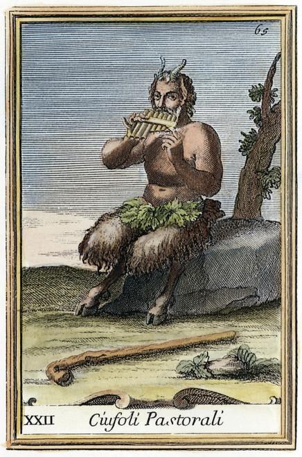 Mythology: Pan. /Ncopper Engraving, 1723, By Arnold Van Westerhout. Poster Print by Granger Collection - Item # VARGRC0042100