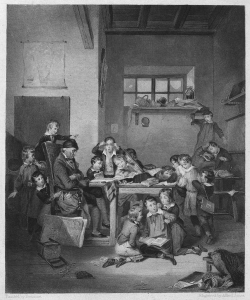 Village School, C1840. /Nsteel Engraving, American, C1840, After A Painting By Joseph Beaume (1796-1885). Poster Print by Granger Collection - Item # VARGRC0092858