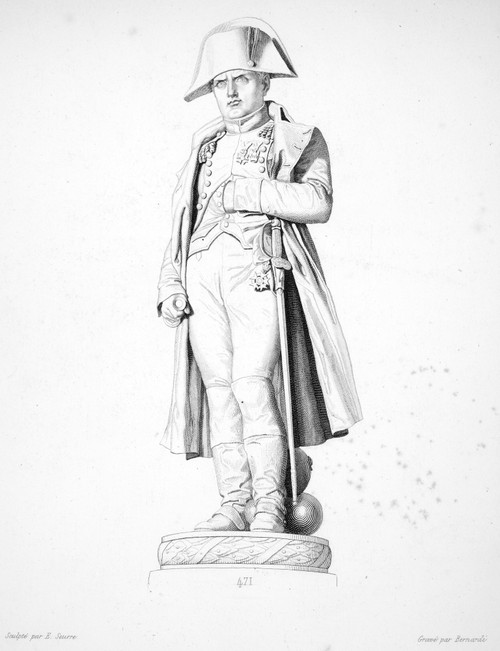 Napoleon I (1769-1821). /Nemperor Of The French. Line Engraving After A Statue By Charles Marie Emile Seurre. Poster Print by Granger Collection - Item # VARGRC0014869