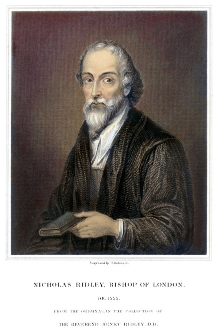 Nicholas Ridley (1500-1555). /Nenglish Religious Reformer And Protestant Martyr. Colored Engraving, English, 1827. Poster Print by Granger Collection - Item # VARGRC0078599