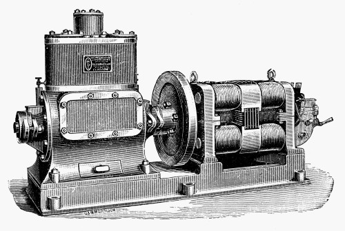 Steam-Driven Dynamo. /Nbuilt By Westinghouse, Late 19Th Century. Poster Print by Granger Collection - Item # VARGRC0077683