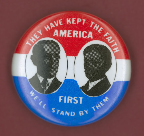 Wilson Campaign Button. /Ndemocratic Presidential Campaign Button From Woodrow Wilson'S 1912 Bid For President, With Vice Presidential Candidate Thomas Marshall. Poster Print by Granger Collection - Item # VARGRC0068325