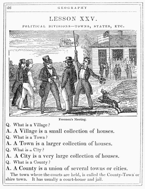 Freemen'S Meeting, 1847. /Nwood Engraving, American, 1847. Poster Print by Granger Collection - Item # VARGRC0093144
