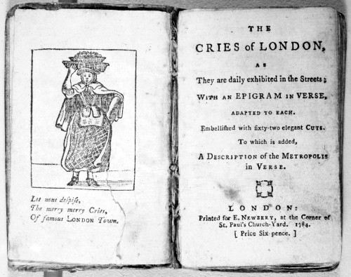 Cries Of London, 1784. /Nwoodcut Frontispiece And Title Page Of 'The Cries Of London,' London, England, 1784. Poster Print by Granger Collection - Item # VARGRC0079333