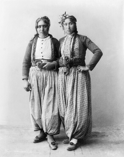 Palestine: Gypsies, 1893. /Ntwo Gypsy Women Of Palestine. Photographed 1893. Poster Print by Granger Collection - Item # VARGRC0108873