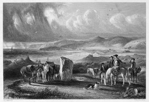 Scotland: Carrick, C1840. /Nshanter Farm And Bay, Carrick, Scotland. Steel Engraving, Scottish, C1840, After David Octavius Hill. Poster Print by Granger Collection - Item # VARGRC0078005