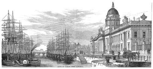 Dublin: Custom House, 1878. /Ndublin From The Liffey River. Line Engraving, 1878. Poster Print by Granger Collection - Item # VARGRC0015763