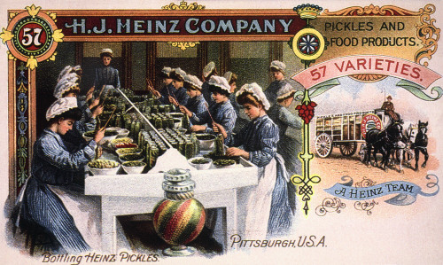Heinz Trade Card, C1900. /Namerican Merchant'S Trade Card For H.J. Heinz Company Pickles And Other Food Products. Poster Print by Granger Collection - Item # VARGRC0033225