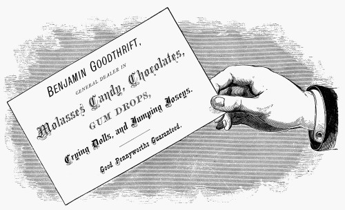 Mortised Cut, 19Th Century. /Namerican Typefounder'S Cut For A Candy Salesman'S Business Card, 19Th Century. Poster Print by Granger Collection - Item # VARGRC0079588