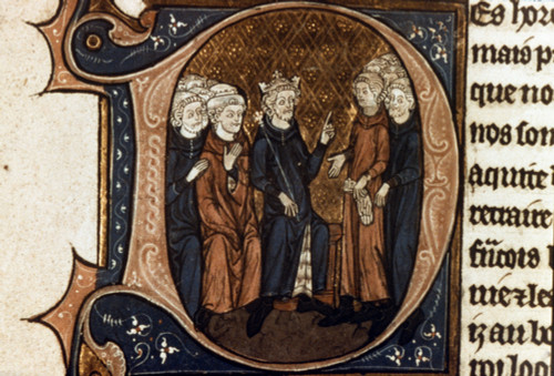 King Louis Vii & Advisers. /Nking Louis Vii Of France (1120?-1180) Sits With His Advisers And Rebukes The Bourgeois People Of Orleans. Poster Print by Granger Collection - Item # VARGRC0020942