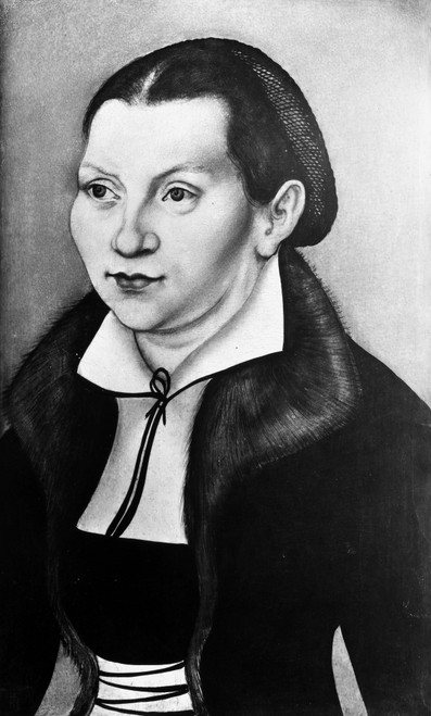 Katharina Von Bora Luther /N(1499-1552). Wife Of Martin Luther. Oil On Panel, 1529, By Lucas Cranach The Elder. Poster Print by Granger Collection - Item # VARGRC0052455