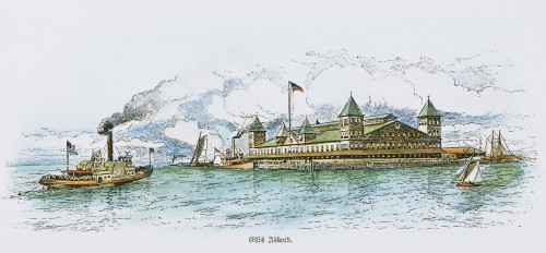 Ellis Island, 1891. /Nin Upper New York Bay, The Main U.S. Immigrant Station From 1891 To 1943: Line Drawing, 1891. Poster Print by Granger Collection - Item # VARGRC0030656
