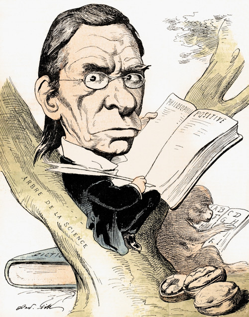 Maximilien Littre. /Nmaximilien Paul-�mile Littr_ (1801-1881). French Lexicographer And Philosopher. Caricature By Andr_ Gill, 1874. Poster Print by Granger Collection - Item # VARGRC0089713