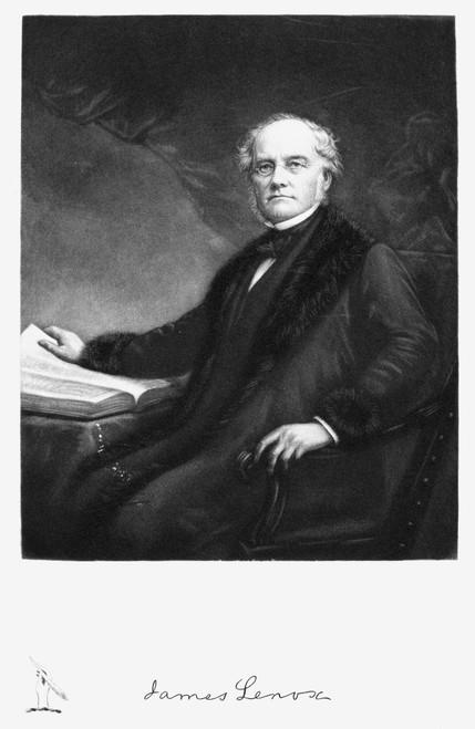 James Lenox (1800-1880). /Namerican Bibliophile And Philanthropist. Mezzotint, American, 19Th Century. Poster Print by Granger Collection - Item # VARGRC0051734