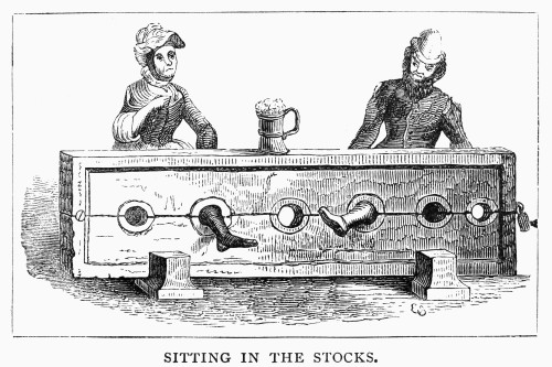 English Stocks. /Nan English Man And Woman In The Stocks During The 15Th Century. 19Th Century Engraving. Poster Print by Granger Collection - Item # VARGRC0093013