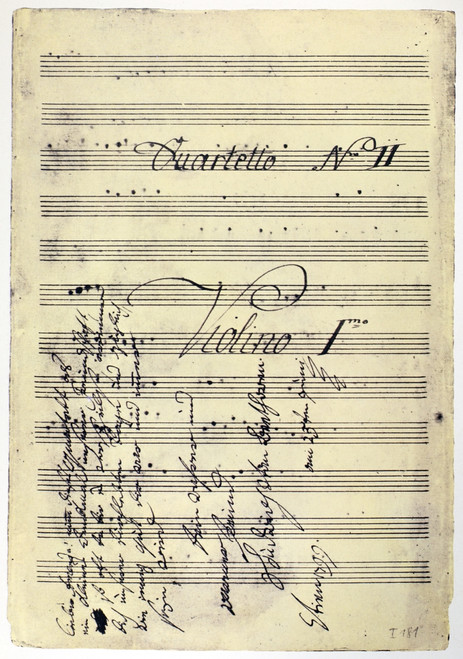 Beethoven Manuscript, 1799. /Ncopy Of Ludwig Van Beethoven'S String Quartet In F Major Op. 18 No. 1, With Dedication To Carl Amenda In Beethoven'S Hand, 1799. Poster Print by Granger Collection - Item # VARGRC0122068