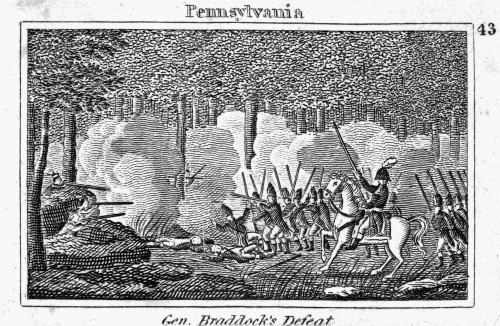 Braddock'S March, 1755. /Ngeneral Edward Braddock'S March To Fort Duquesne In 1755 During The French And Indian War. Line Engraving, American, 1830. Poster Print by Granger Collection - Item # VARGRC0045257