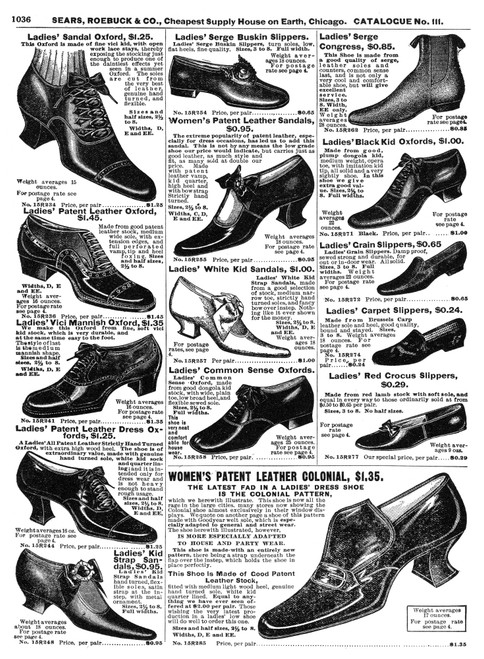 Advertising Catalogue 1902. /Na Page From A Sears, Roebuck, & Co Catalogue Showing Women'S Footwear Fashions. Poster Print by Granger Collection - Item # VARGRC0065941