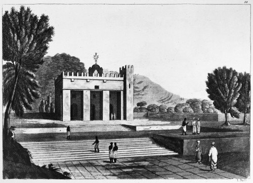 Abyssinia: Temple. /Ntemple Abba Os Guba In Abyssinia (Present-Day Ethiopia), From 'Il Costume Antico E Moderno,' By Giulio Ferrario, C1830. Poster Print by Granger Collection - Item # VARGRC0260309