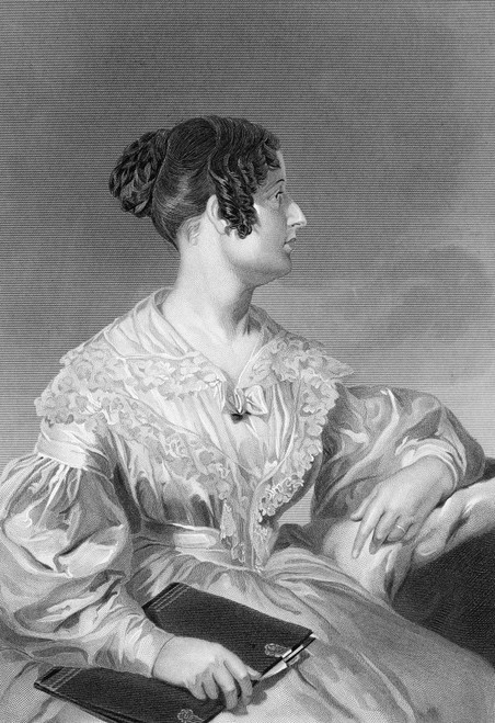 Felicia Hemans (1793-1835). /Nfelicia Dorothea Hemans. English Poet. Steel Engraving, American, 19Th Century. Poster Print by Granger Collection - Item # VARGRC0056775