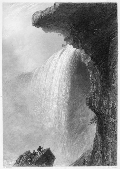 Niagara Falls, 1837. /Na View Of Niagara Falls From Table Rock. Line Engraving, English, 1837. Poster Print by Granger Collection - Item # VARGRC0000085