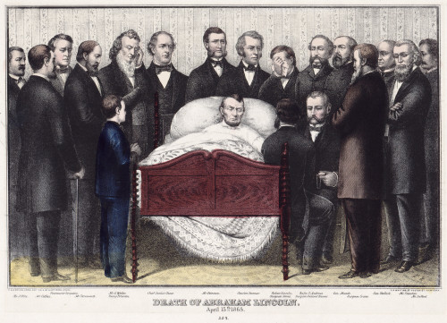Death Of Lincoln, 1865. /N'Death Of Abraham Lincoln, April 15Th 1865.' Lithograph By E.B. & E.C. Kellogg, 1865. Poster Print by Granger Collection - Item # VARGRC0322951