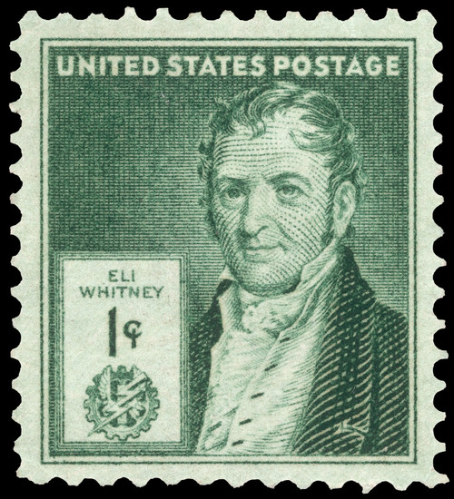 Eli Whitney (1765-1825). /Namerican Inventor. U.S. Commemorative Postage Stamp, 1940. Poster Print by Granger Collection - Item # VARGRC0113989