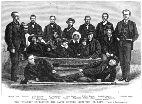 Polaris Survivors, 1873. /Nthe 'Polaris' Survivors Who Were Rescued From The Ice-Floe After An Expedition Led By Captain Charles Francis Hall. Wood Engraving, American, 1873. Poster Print by Granger Collection - Item # VARGRC0054860