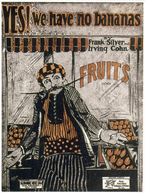 """Song Sheet Cover, 1923. /Nsong Sheet Cover Of """"Yes! We Have No Bananas,"""" 1923. Poster Print by Granger Collection - Item # VARGRC0031484"""