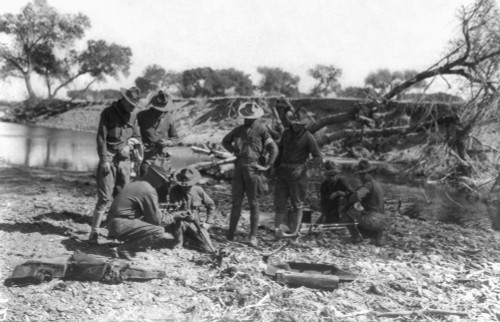 Mexican Expedition, 1916. /Nmembers Of The Machine Gun Platoon Of The U.S. Army'S 16Th Infantry Having Their Weapons Inspected Near Casa Grande, Mexico, April 1916. Poster Print by Granger Collection - Item # VARGRC0123084