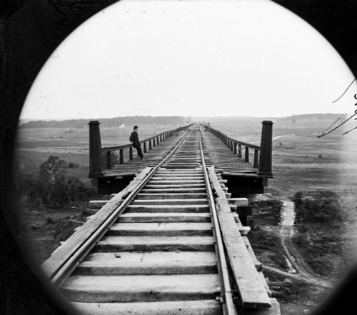 Virginia: High Bridge. /Nhigh Bridge Of The South Side Railroad Across The Appomattox, Farmville, Virginia. Photograph By Timothy O'Sullivan, April 1865. Poster Print by Granger Collection - Item # VARGRC0163356