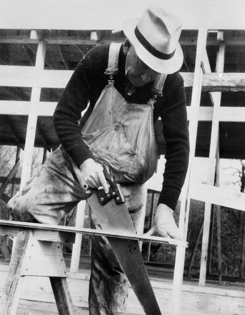 Maryland: Carpenter, 1935. /Ncarpenter Working For The Berwyn Project, Berwyn, Maryland. Photograph By Carl Mydans, November 1935. Poster Print by Granger Collection - Item # VARGRC0121227
