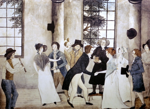 American Wedding, C1805. /N'The Wedding.' Pen And Watercolor By An Unknown Artist, C1805. Poster Print by Granger Collection - Item # VARGRC0102784