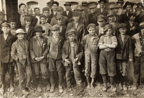 Alabama: Child Labor, 1910. /Na Group Of Young Textile Workers At The Dallas Cotton Mill At Closing Time On Saturday In Huntsville, Alabama. Photograph By Lewis Hine, November 1910. Poster Print by Granger Collection - Item # VARGRC0132622