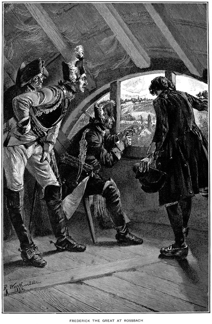 Frederick Ii (1712-1786). /Nfrederick The Great. King Of Prussia, 1740-1786. Frederick The Great At The Battle Of Rossbach, 5 November 1757. Wood Engraving, 19Th Century. Poster Print by Granger Collection - Item # VARGRC0054162