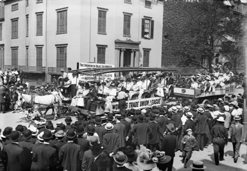 Labor Day Parade, C1908. /Nfloat Of The Women'S Trade Union League, At A Labor Day Parade In New York City. Photograph, C1908. Poster Print by Granger Collection - Item # VARGRC0117462