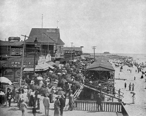 Atlantic City, C1890. /Nthe Boardwalk In Atlantic City, New Jersey. Photograph, C1890. Poster Print by Granger Collection - Item # VARGRC0353490