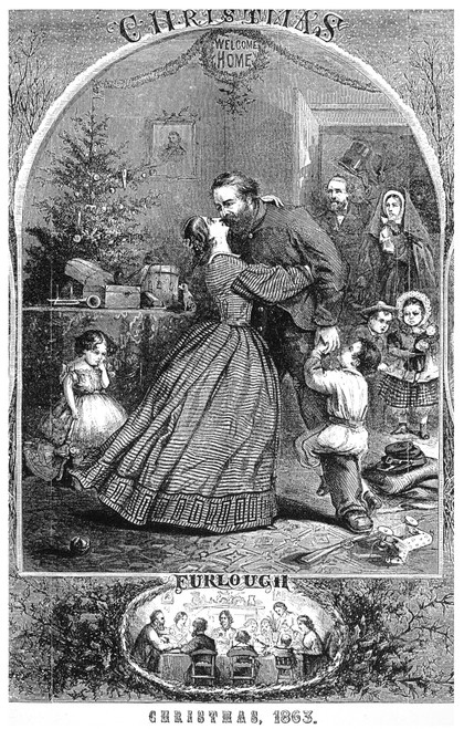 Civil War: Christmas. /Nfurlough, Christmas 1863. Detail Of A Wood Engraving After Thomas Nast From An American Newspaper Of December 1863. Poster Print by Granger Collection - Item # VARGRC0052568