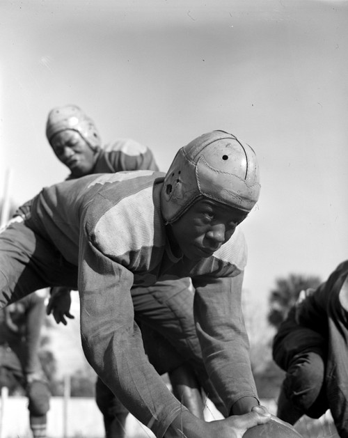 Football Team, 1943. /Na Football Player From Bethune-Cookman College In Daytona Beach, Florida. Photograph By Gordon Parks, 1943. Poster Print by Granger Collection - Item # VARGRC0264961
