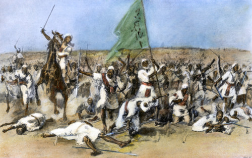 Battle Of Omdurman, 1898. /Nthe First Charge Of Sudanese Dervishes Against The British At The Battle Of Omdurman, 2 September 1898. Line Engraving, C1900. Poster Print by Granger Collection - Item # VARGRC0068925